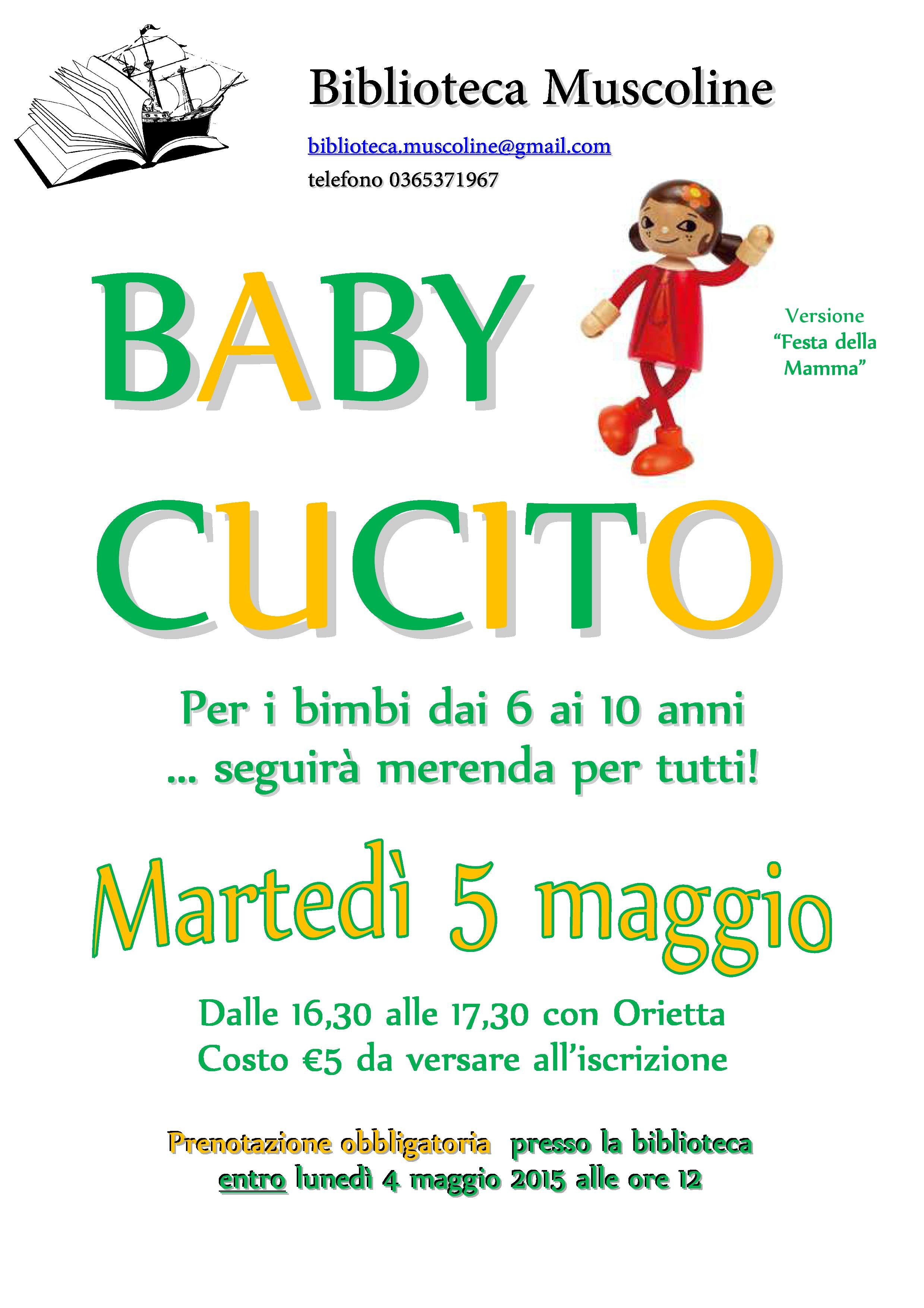 2ffa644761c5 Baby cucito in occasione della festa della mamma » Rete ...