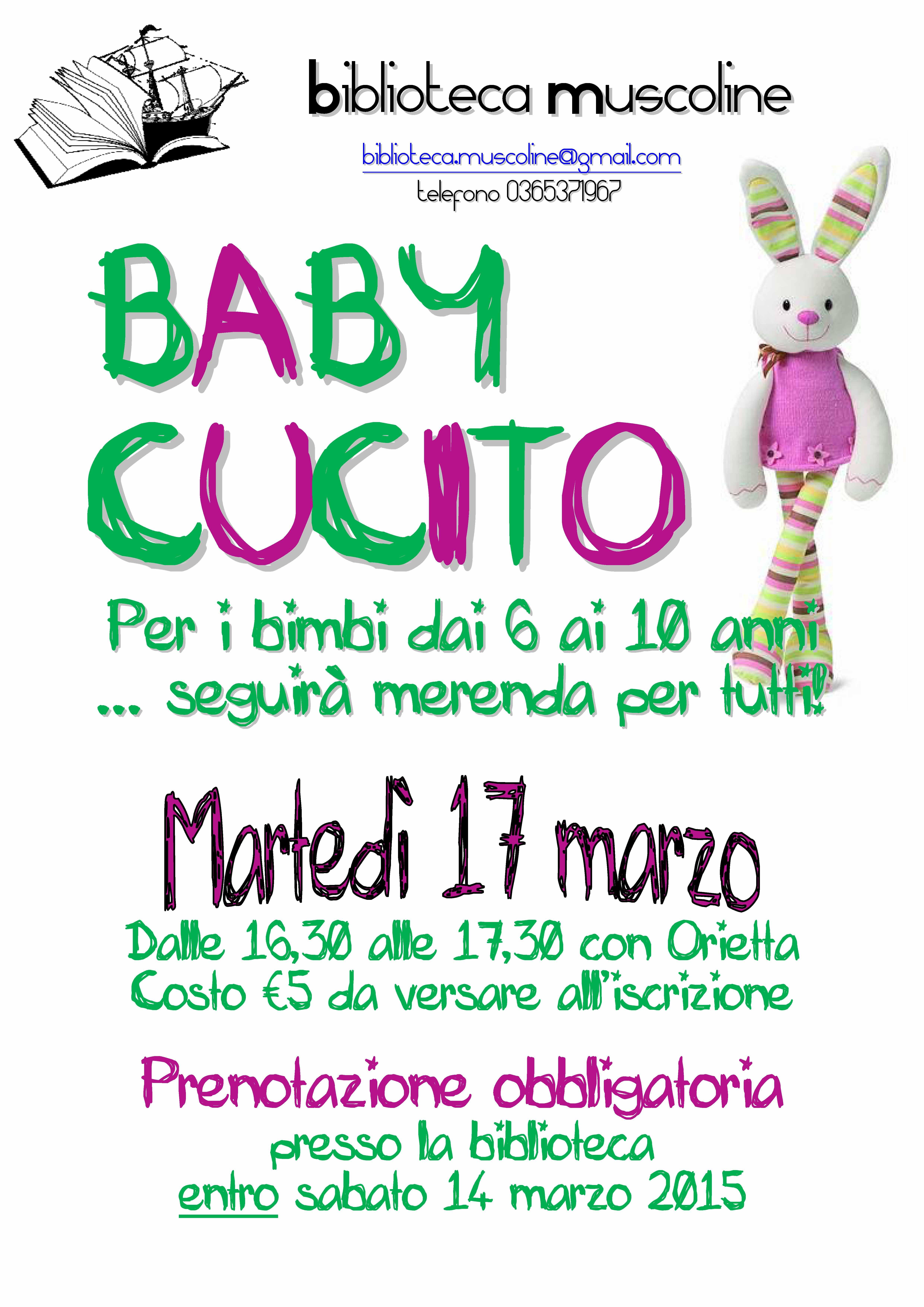 d67d82db30ef BABY CUCITO » Rete Bibliotecaria Bresciana e Cremonese