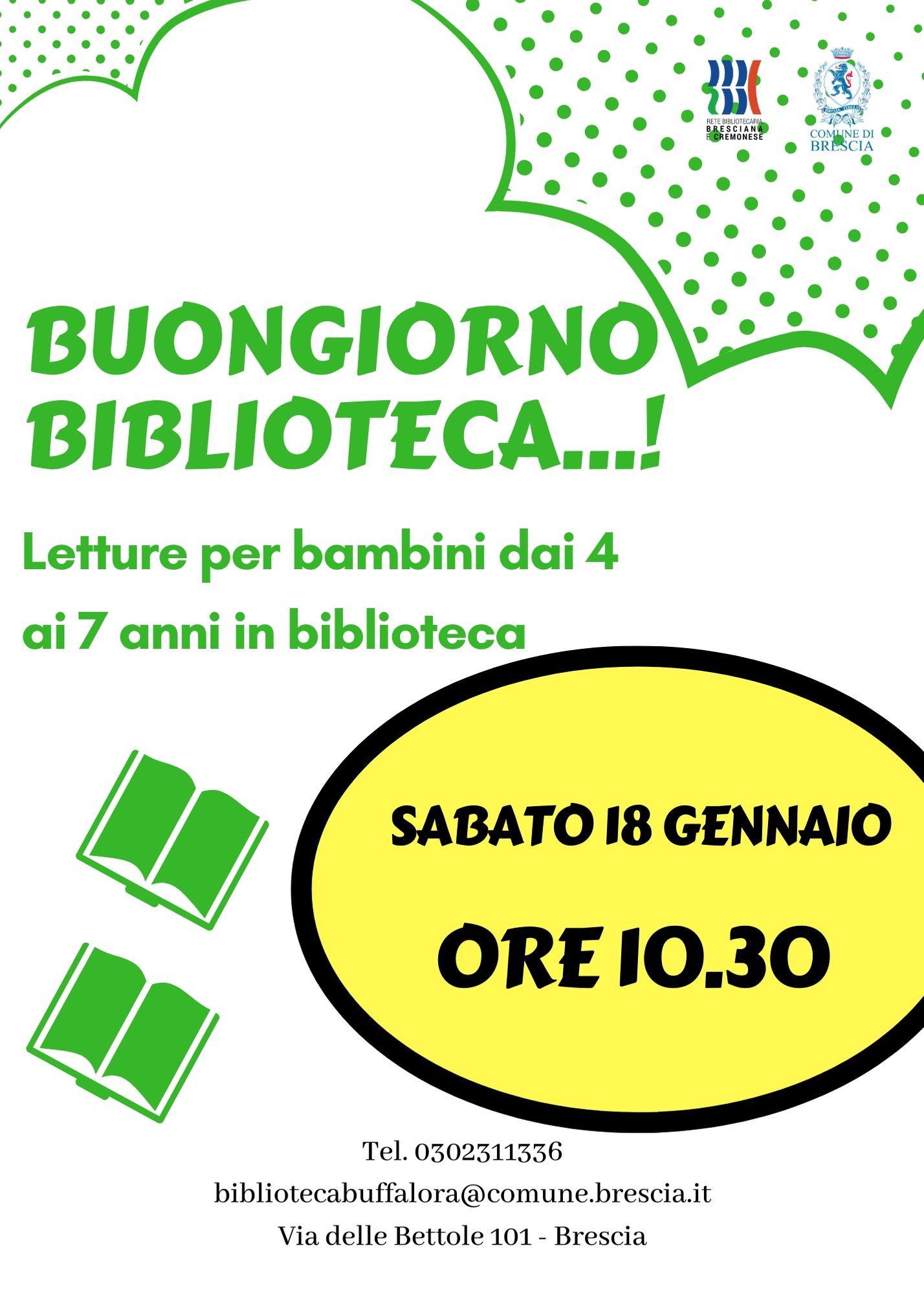 Buongiorno Biblioteca Letture Per Bambini Dai 4 Ai 7 Anni