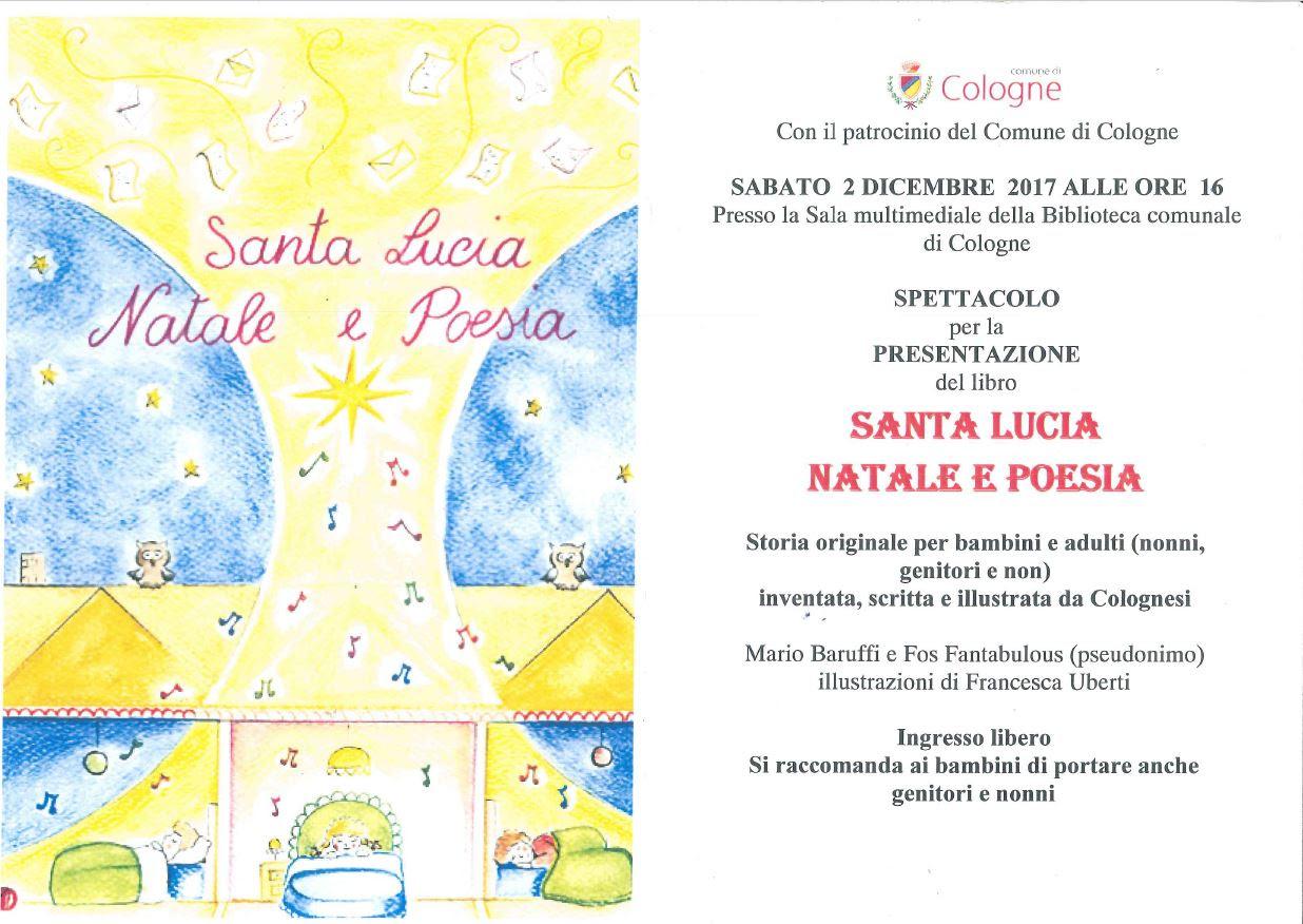 Santa lucia natale e poesia rete bibliotecaria for Biblioteca cologne