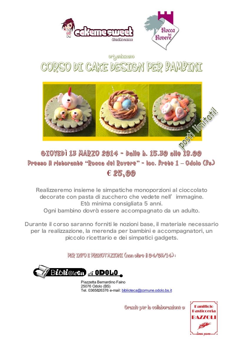 Corsi Di Cake Design Per Bambini Roma : CORSO CAKE DESIGN PER BAMBINI   Rete Bibliotecaria ...